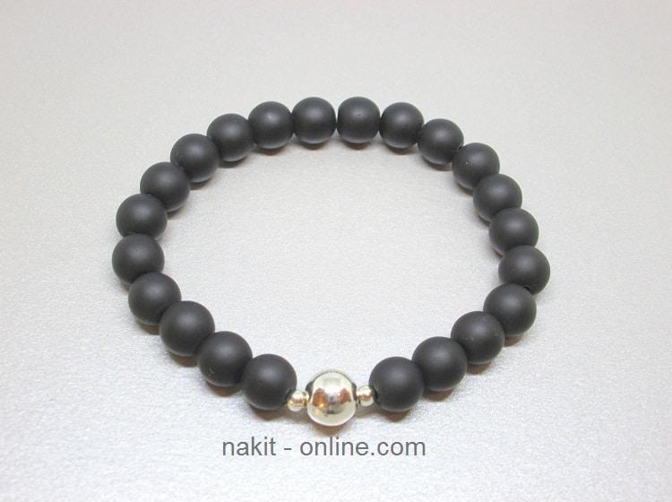 crni ahat, nakit online, poludrago kamenje, nakit kristali, energetski nakit, narukvica poklon, bioenergija