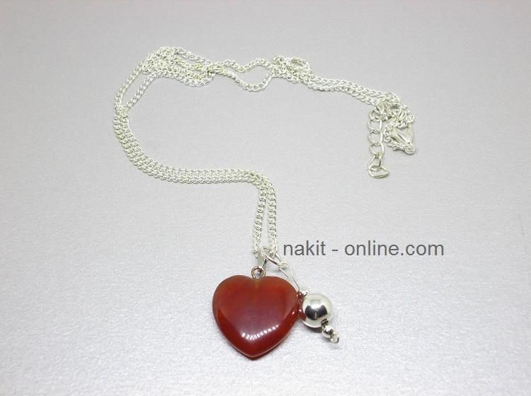 crveni žad, nakit poludrago kamenje, kristali nakit, nakit online, kristali ogrlica, energetski nakit, kristali, žad
