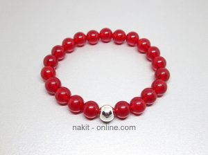 crveni žad, nakit poludrago kamenje, kristali nakit, nakit online, narukvica, energetski nakit, narukvice kristali, žad