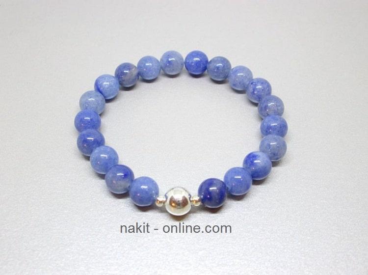 plavi aventurin, nakit, poludrago kamenje, kristali. akvamarin i aventurin, kristali za sreću, plava narukvica, bioenergija, drago kamenje