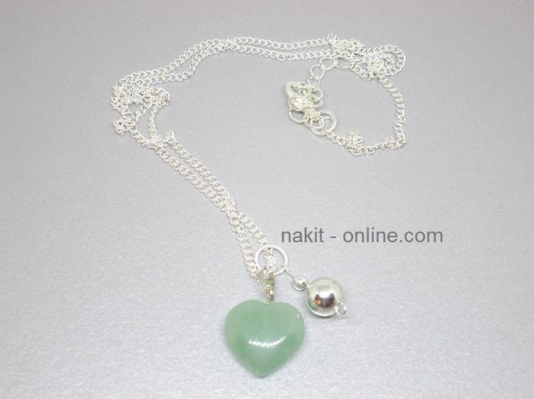 zeleni aventurin, ogrlica, kristali ogrlica, poludrago kamenje ogrlica, kristali privjesak, aventurin ogrlica, aventurin nakit prodaja, aventurin značenje djelovanje upotreba